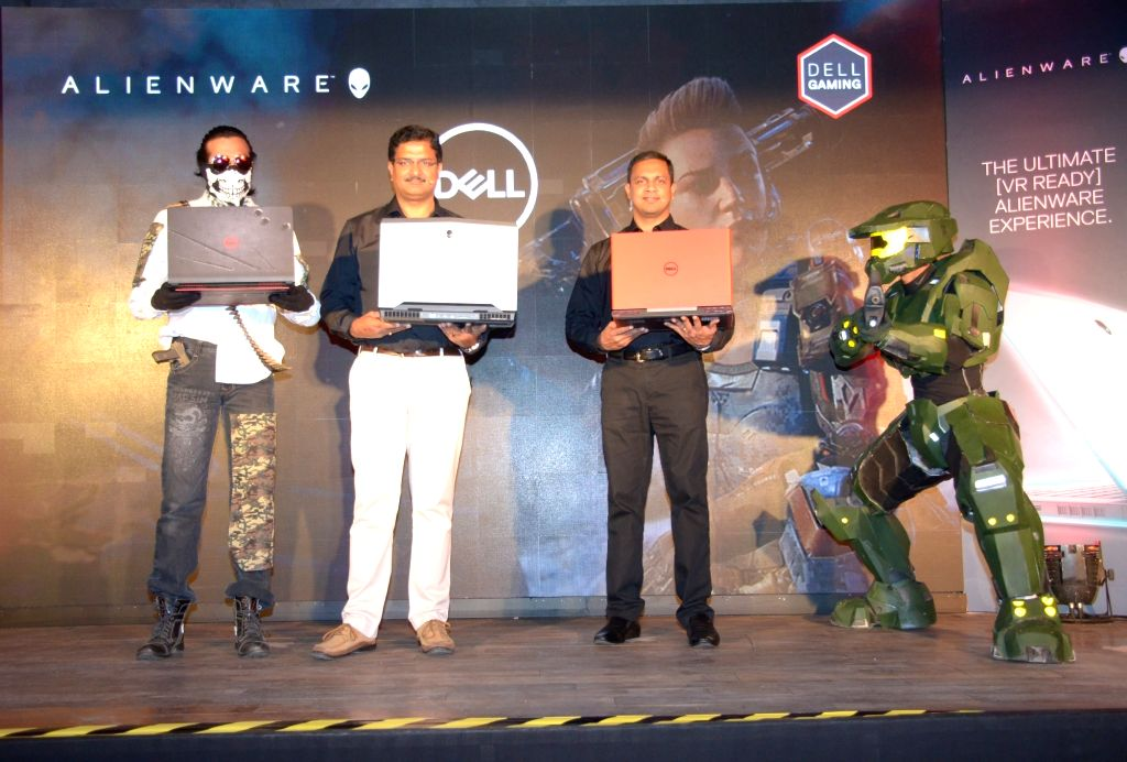 Dell India Consumer and Small Business Vice President P Krishnakumar and Product Marketing Consumer and Small Business Director Alen Joe Jose during the launch of Dell's new range of ...