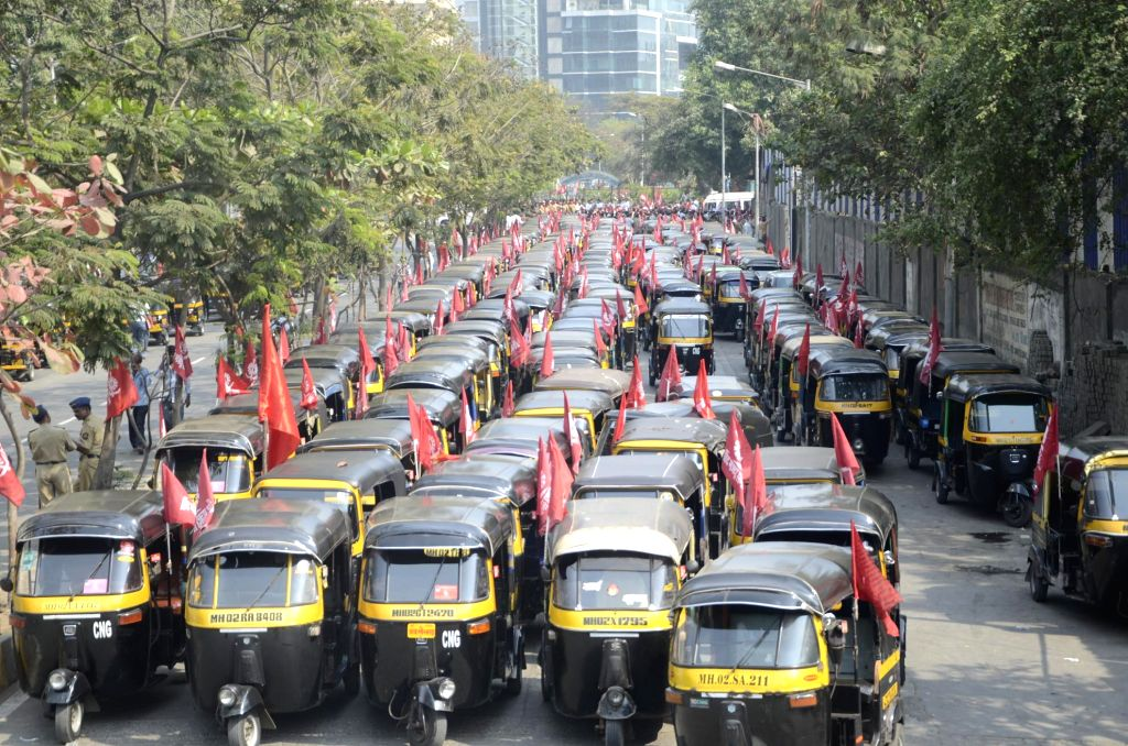 Demanding a crackdown on illegal auto-rickshaws, aggregator services like Ola-Uber, and a steep fare hike, around a million auto-rickshaws all over Maharashtra will launch an indefinite strike from midnight, a top union leader said here on Monday. (P
