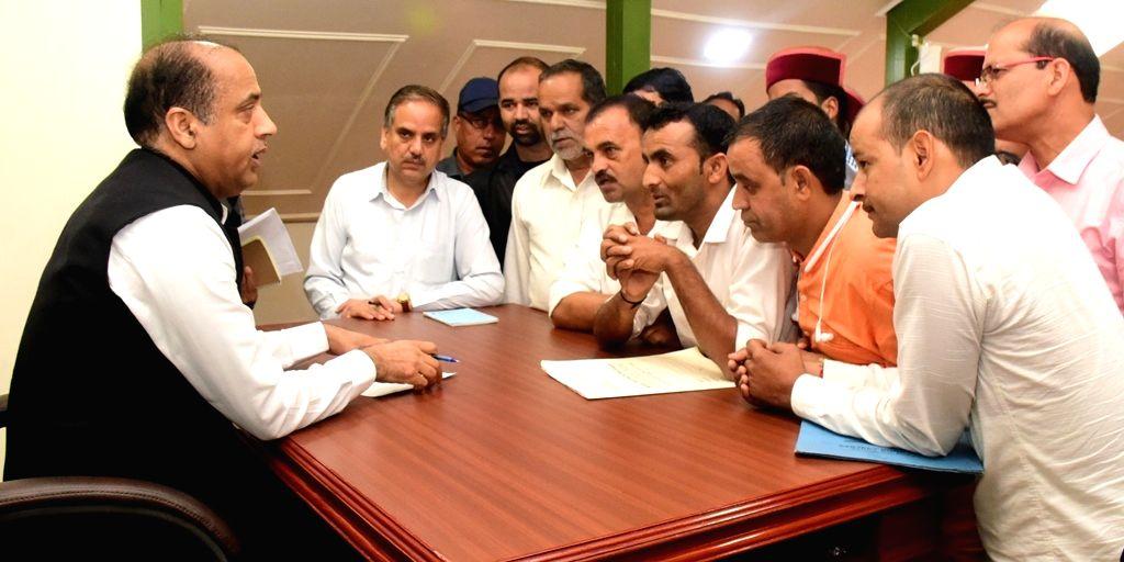 Deputation from Balichowki calls on Himachal Pradesh Chief Minister Jai Ram Thakur in Shimla on Sep 13, 2019. - Jai Ram Thakur