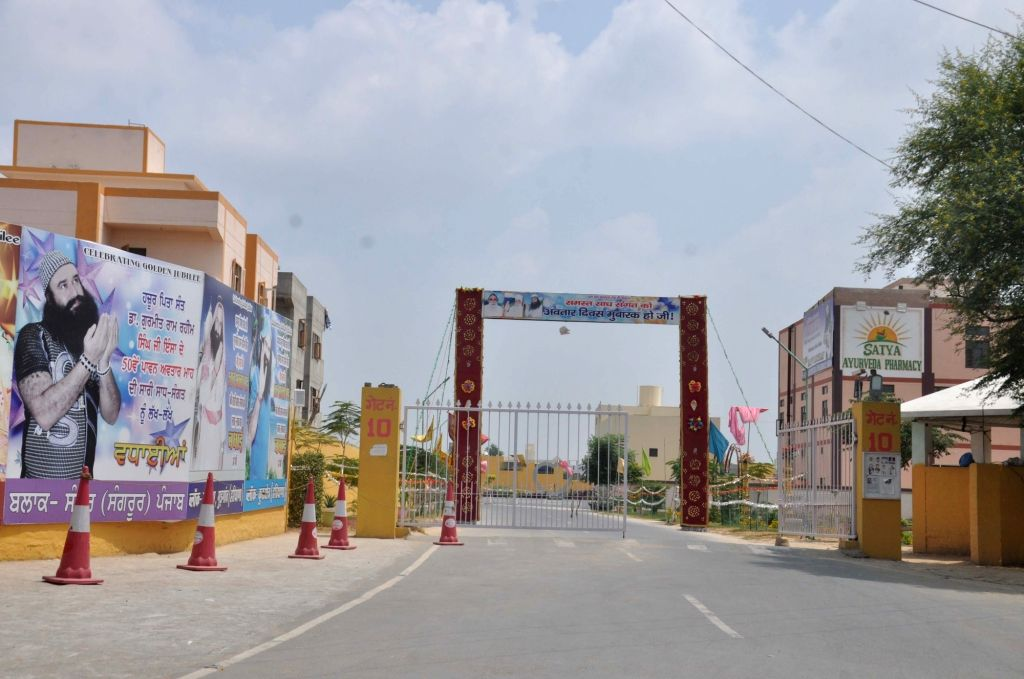 Dera: A view of the deserted Dera Sacha Sauda Ashram ahead of rape convict Dera Sacha Sauda chief Gurmeet Ram Rahim Singh's sentencing in a 2002 rape case; at Dera village in Haryana on Aug 28, 2017. (Photo: IANS)