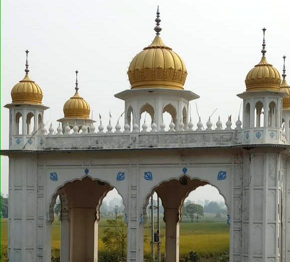 Dera Baba Nanak: A view of the the site of much-anticipated Kartarpur Corridor project for Indian pilgrims to visit the revered Sikh shrine across the border in Pakistan, that is expected to be completed by the end of this month, in Punjab's Dera Bab
