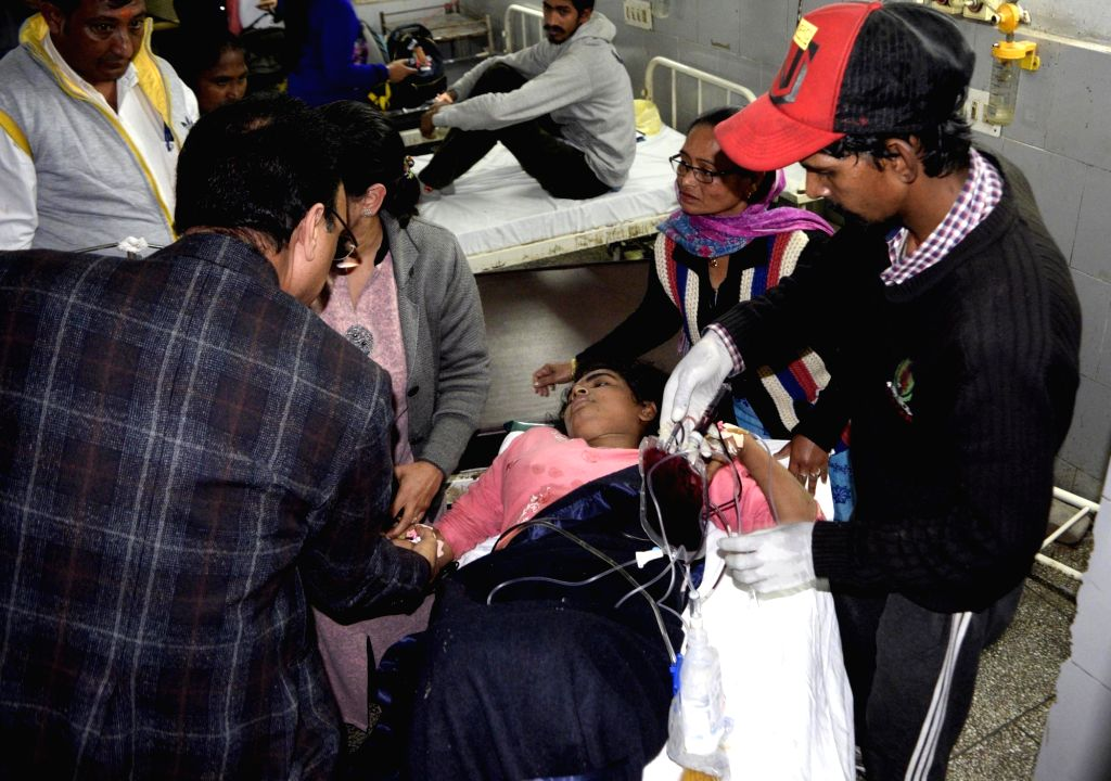 Dera Baba Nanak: The young woman intruder from Pakistan who was shot at and injured by Border Security Force (BSF) troopers in the Dera Baba Nanak sector of Punjab's Gurdaspur district receives treatment at government hospital in Dera Baba Nanak town