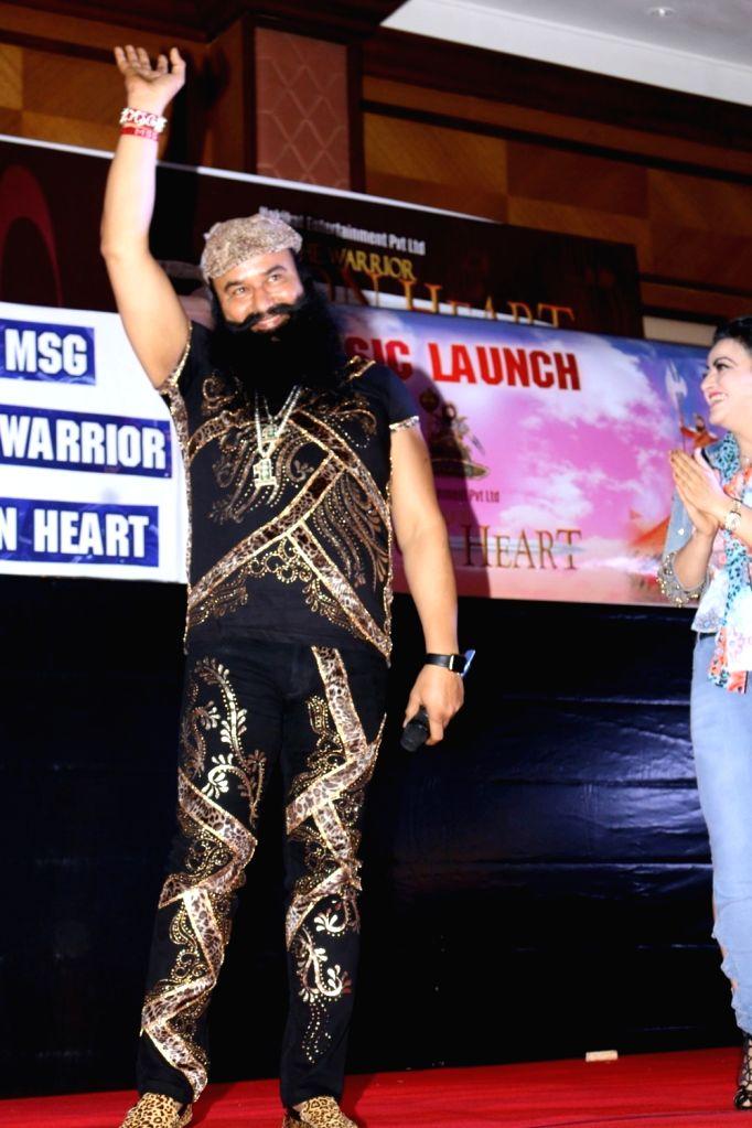 Dera Sacha Sauda (DSS) spiritual head Gurmeet Ram Rahim Singh during the music launch of the film MSG The Warrior Lion Heart in Mumbai on Sept. 17, 2016.