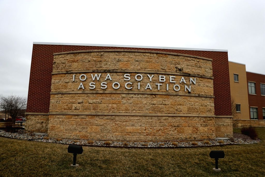 DES MOINES (U.S.), March 28, 2018 Photo taken on March 27, 2018 shows the exterior of Iowa Soybean Association's building in Des Moines, state of Iowa, the United States. Soybean farmers ...