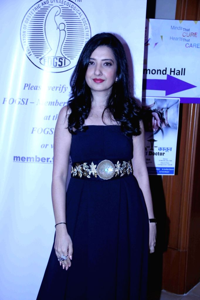 Designer Amy Billimoria during the Mumbai Obstetrics and Gynecological Society's annual fashion show for Save the Girl Child cause in Mumbai on March 11, 2017.