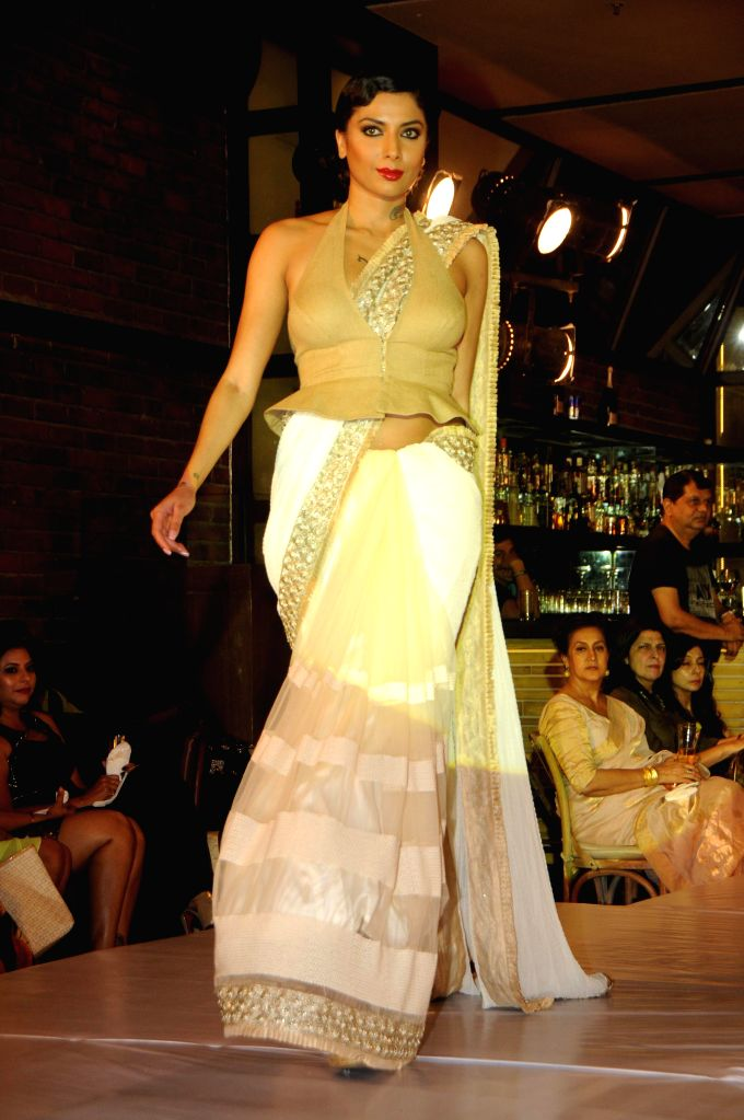 Designer Amy Billimoria's Eco Art Fashion Initiative `Earth 21` with Cricketer Shoaib Akhtar as Show Stopper in Mumbai on April 26th, 2014.