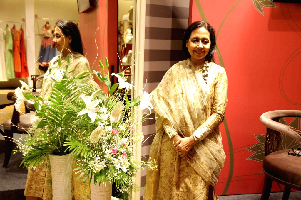 Designer Anju Modi at prelude to the Vogue Wedding show 2015 at the AZA store in Mumbai, on June 24, 2015.