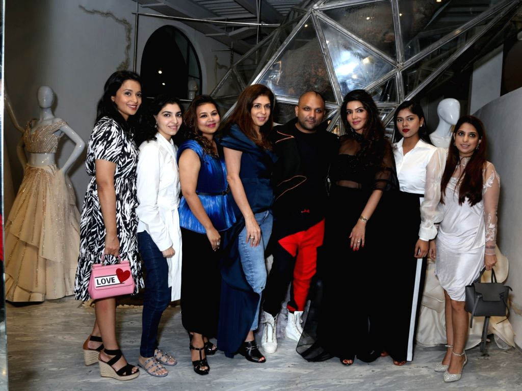 Designer Gaurav Gupta, Mandira Lamba and Anaita Shroff Adajania during a personal styling session with FICCI FLO, in New Delhi on Sep 12, 2019. - Gaurav Gupta
