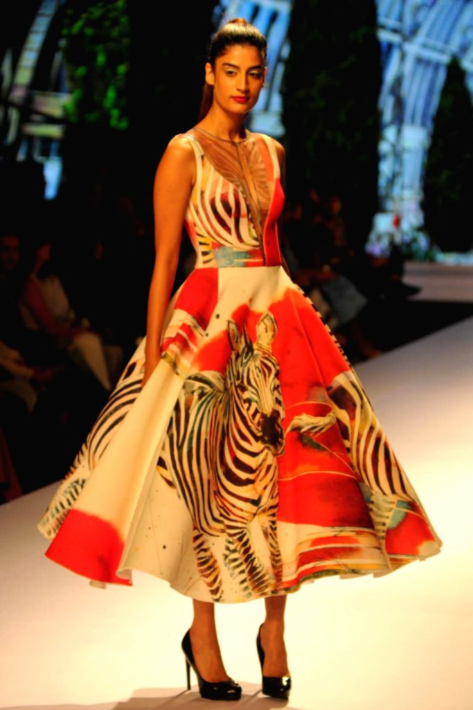 Designer Gauri and Nainika's Show  at the  BMW India Bridal Fashion Week in New  Delhi, on August 10,2015.
