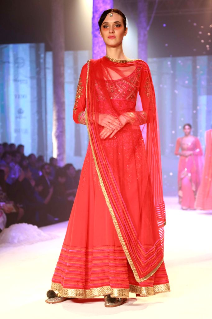 Designer JJ Valaya's Show  at the  BMW India Bridal Fashion Week in New  Delhi, on August 09,2015.