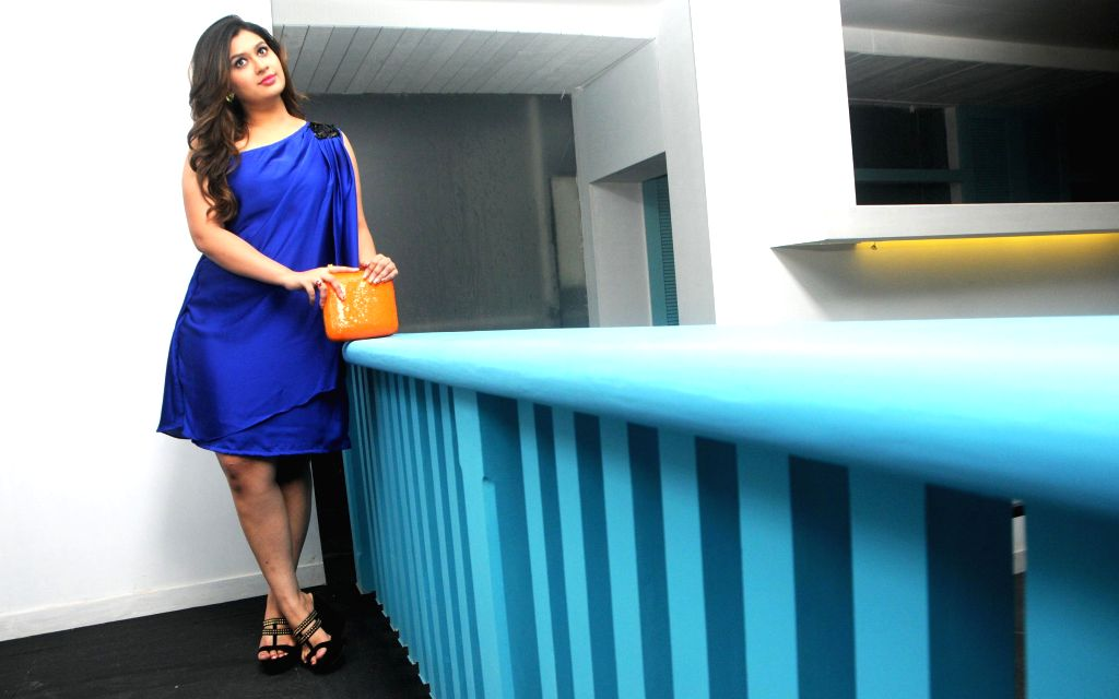 Designer Manali Jagtap during the launch of her new `Clutch Closet` bridal handbag collection preview event in Mumbai on July 11, 2014.