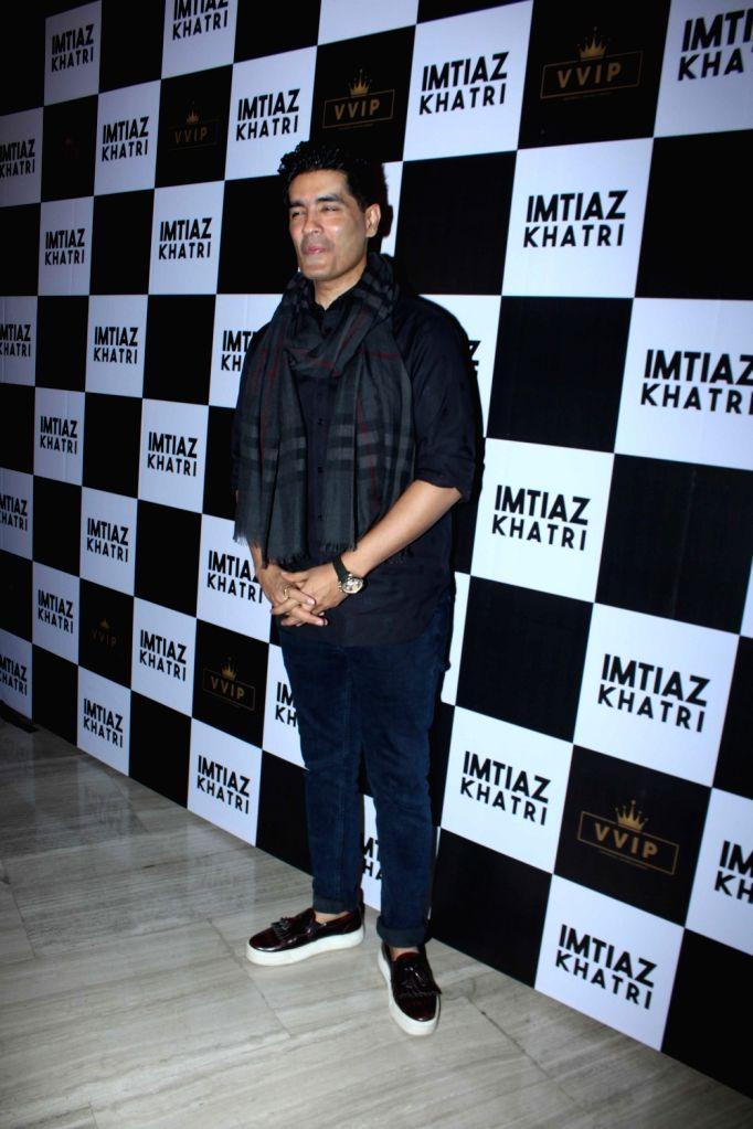 Designer Manish Malhotra at producer Imtiaz Khatri's birthday bash in Mumbai on Sept 9, 2017. - Manish Malhotra