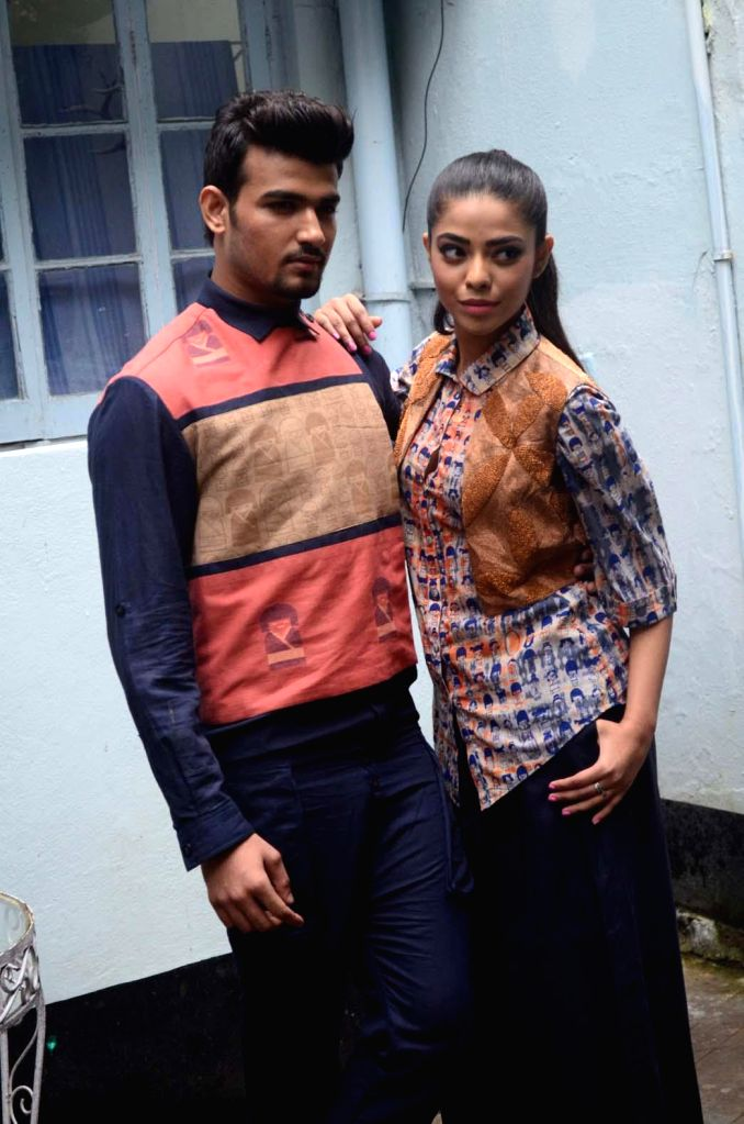 Designer Sayantan Sarkar showcased his Lakme Fashion Week Winter-Festive Collection 2014 `Live and Let Fly` in aid of Hope Foundation alongwith celebrities Alokananda Roy, Nilanjana Chakraborty and .. - Alokananda Roy and Nilanjana Chakraborty