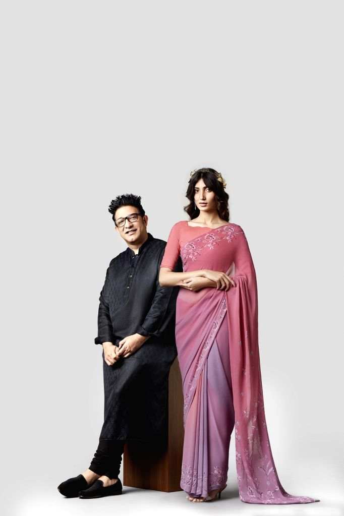 Designer Suneet Varma (left) debuts a festive collection in time for the season.