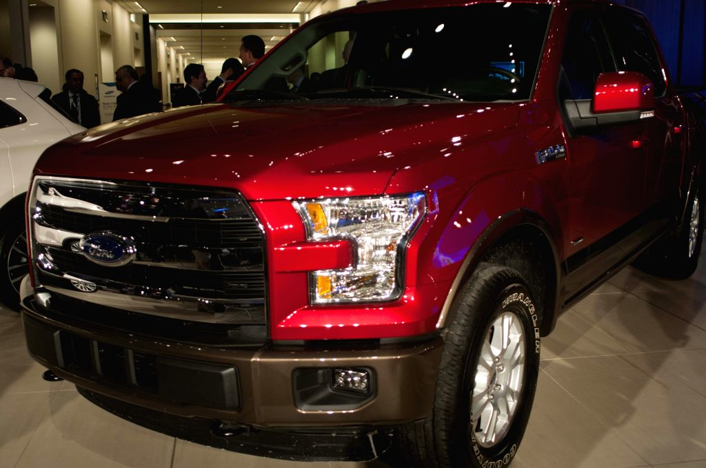 Ford F-150 is presented during the opening ceremony of the 2015 North American International Auto Show (NAIAS) in Detroit, the United States, Jan. 12, 2015. Ford ...