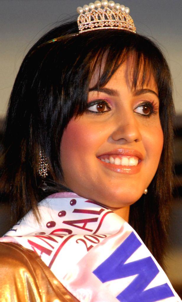 "Devasmita Halder, the winner of most exquisite girl organised by ""Chandrani Pearls"" in kolkata on Thursday."