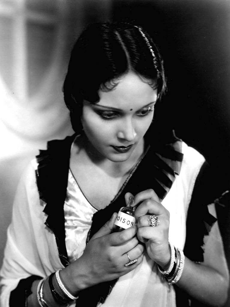 Devika Rani in a publicity still for Bombay Talkies production Jeevan Naiya 1936.
