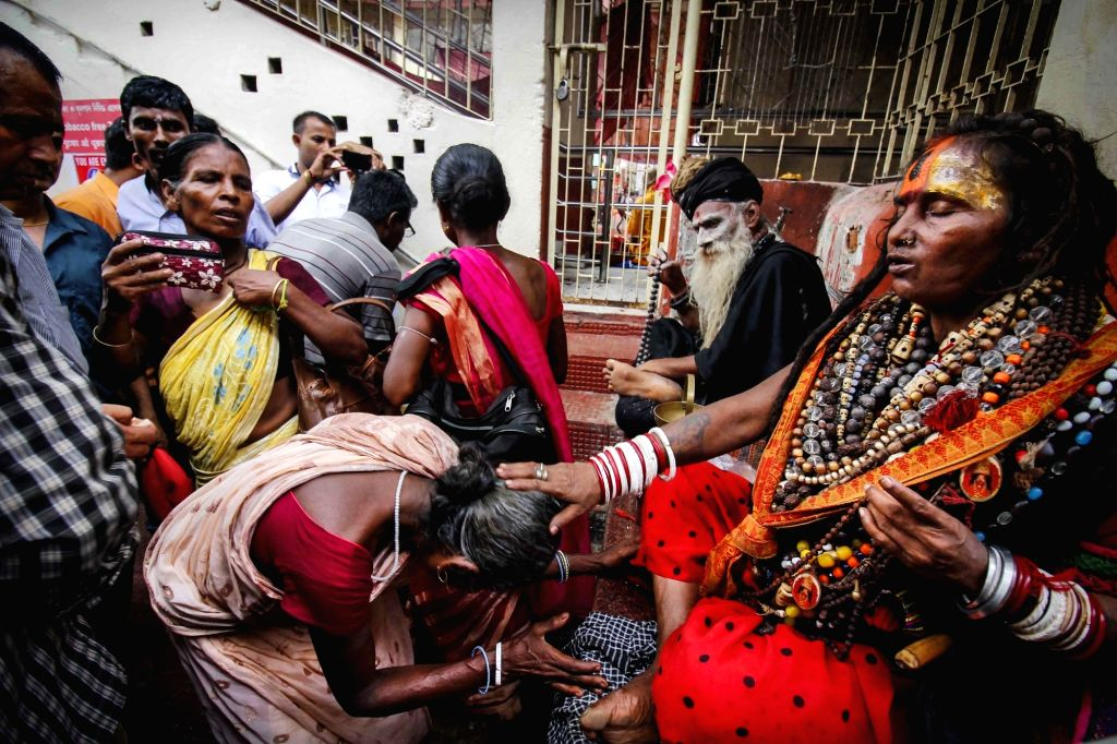 Devotees at Kamakhya Temple during Ambubachi Mela in Guwahati, on June 25, 2016.