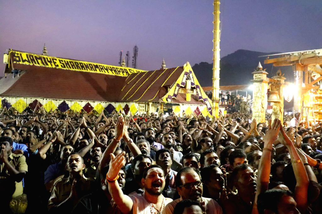 Devotees Of Lord Ayyappan Witness Makara Jyothi