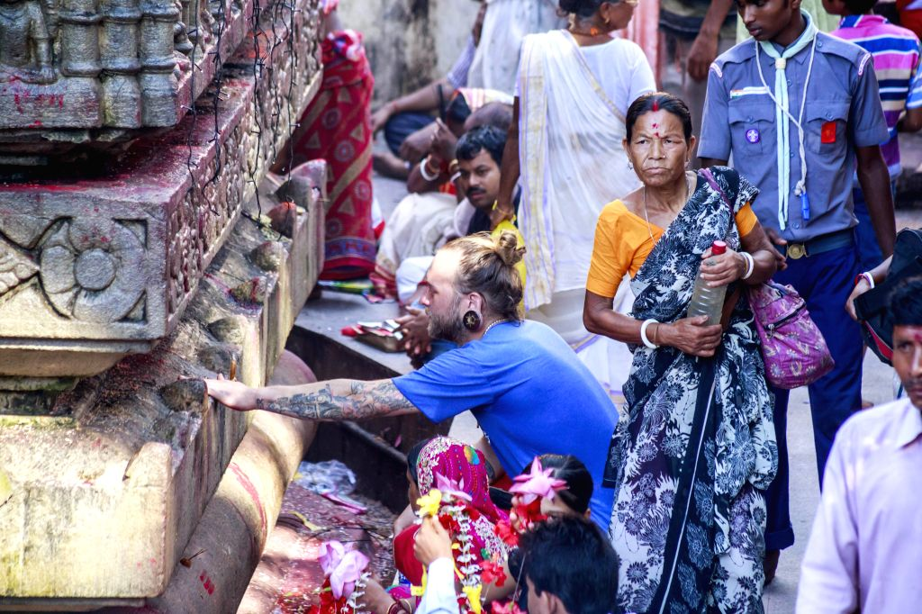 Devotees offering prayers at Kamakhya temple during Ambubachi Mela, also known as Ambubasi festival in Guwahati on June 26, 2015.