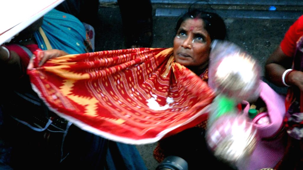Devotees throng a temple during Annakut puja in Kolkata on Oct 31, 2016.