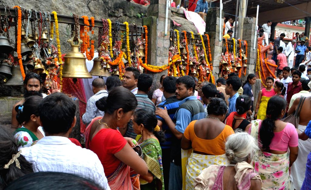Devotees throng at Kamakhya temple during Ambubachi Mela, also known as Ambubasi festival in Guwahati on June 26, 2015.