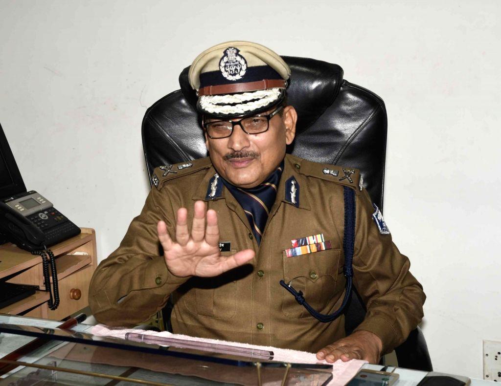 DGP Gupteshwar Pandey takes charge as Bihar DGP in Patna on Jan 31, 2019. - Gupteshwar Pandey