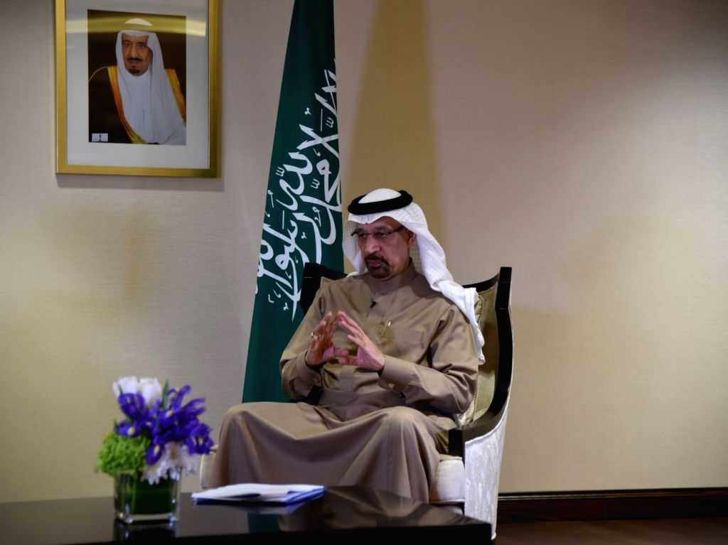 DHAHRAN (SAUDI ARABIA), Feb. 20, 2019 Saudi Minister of Energy, Industry and Mineral Resources Khalid bin Abdulaziz Al-Falih receives an interview with Xinhua in Dhahran, Saudi Arabia, on ...