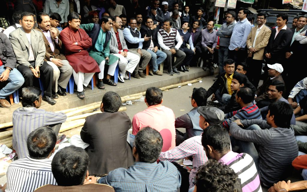 Activists of the ruling party attend a protest rally against the block during the non-stop block called by Bangladesh Nationalist Party (BNP) in Dhaka, Bangladesh, ... - Khaleda Zia