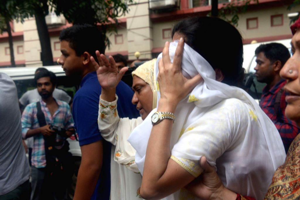 DHAKA, July 2, 2016 - Relatives of the hostages cry near the site of an attack at a Spanish restaurant in Dhaka's diplomatic enclave Gulshan, Bangladesh, July 2, 2016. Gunmen killed 20 foreigners by ...
