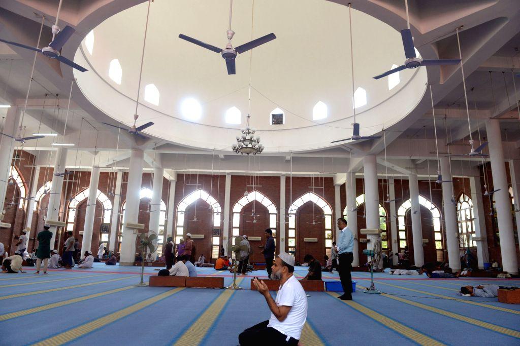 DHAKA, June 23, 2016 - A Bangladeshi Muslim prays at a mosque during the holy Muslim fasting month of Ramadan in Dhaka, Bangladesh, June 20, 2016.