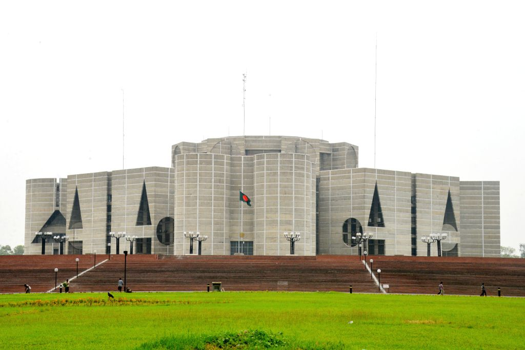 DHAKA, June 6, 2018 - Photo taken on June 6, 2018 shows Bangladesh Parliament complex in Dhaka, Bangladesh.