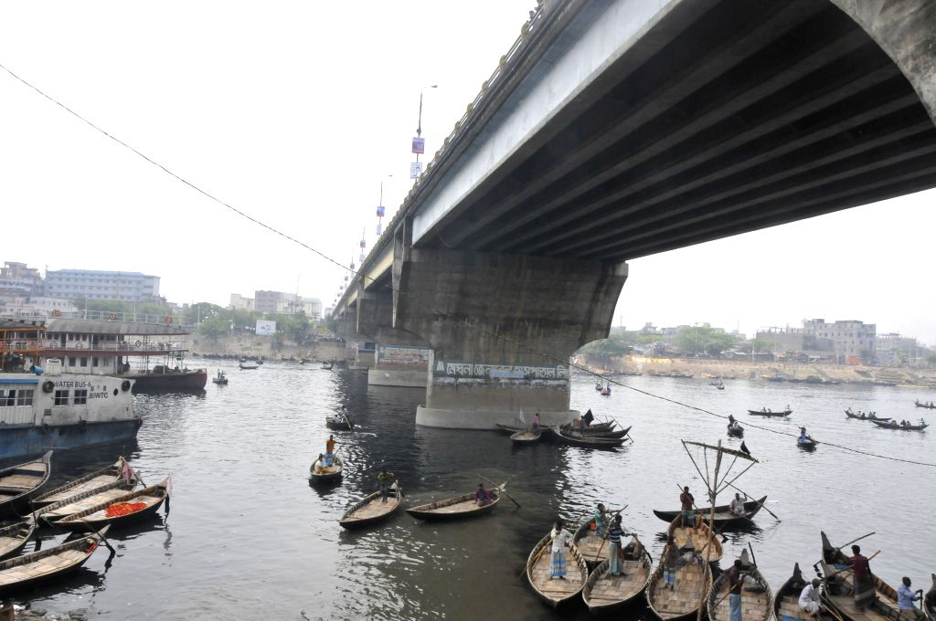 DHAKA, March 29, 2016 - Photo taken on March 29, 2016 shows the first Bangladesh-China Friendship Bridge in Dhaka, Bangladesh. The construction of the first Bangladesh-China Friendship Bridge, with a ...
