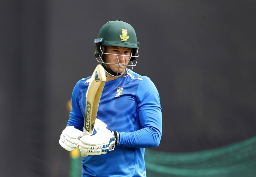 Dharamsala: South Africa's David Millar during a practice session on the eve of their first T20I match against India at Himachal Pradesh Cricket Association Stadium in Dharamsala on Sep 14, 2019. (Photo: Surjeet Yadav/IANS) - Surjeet Yadav