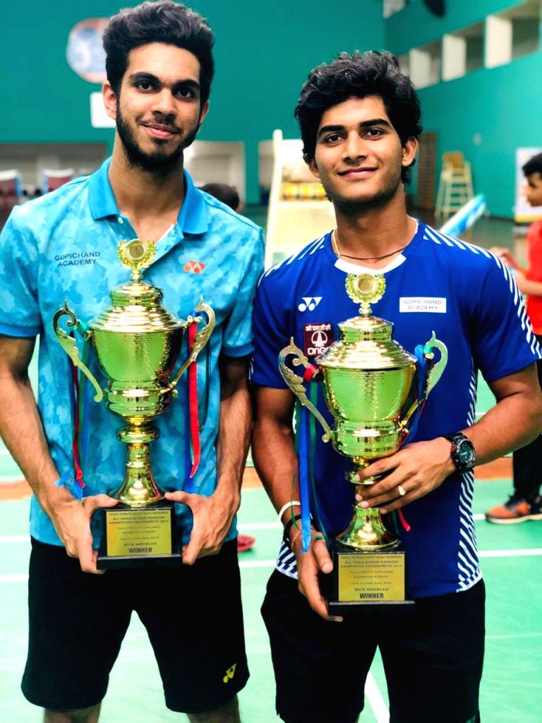 Dhruv Kapilaa and Krishna Prasad at All India Senior Ranking Badminton Tournament-2019