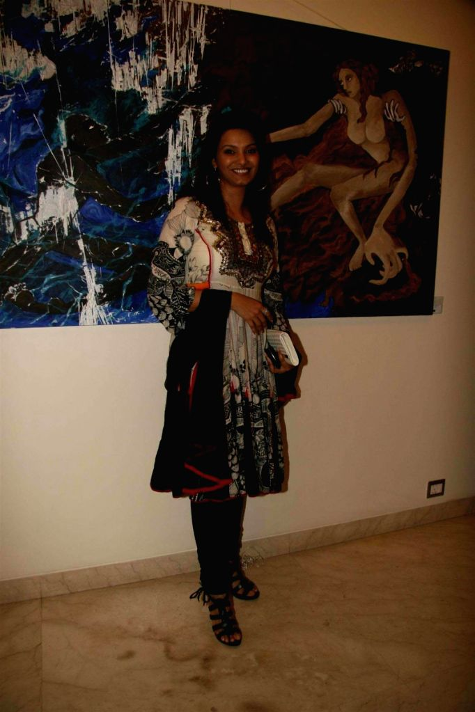Diana Hayden at Shobojit Kaushal's first and last art event organsied by CPAA. - Diana Hayden