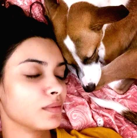 Diana Penty shares picture with her 'nap buddy'.