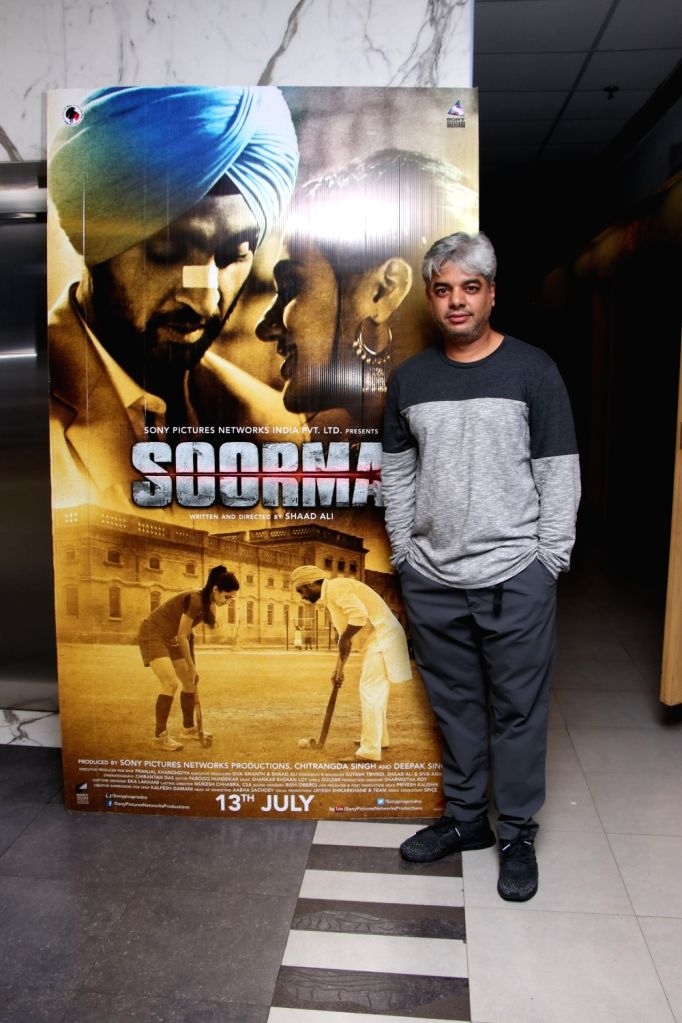"""Diector Shaad Ali at the special screening of upcoming film """"Soorma"""" in Mumbai on July 11, 2018."""