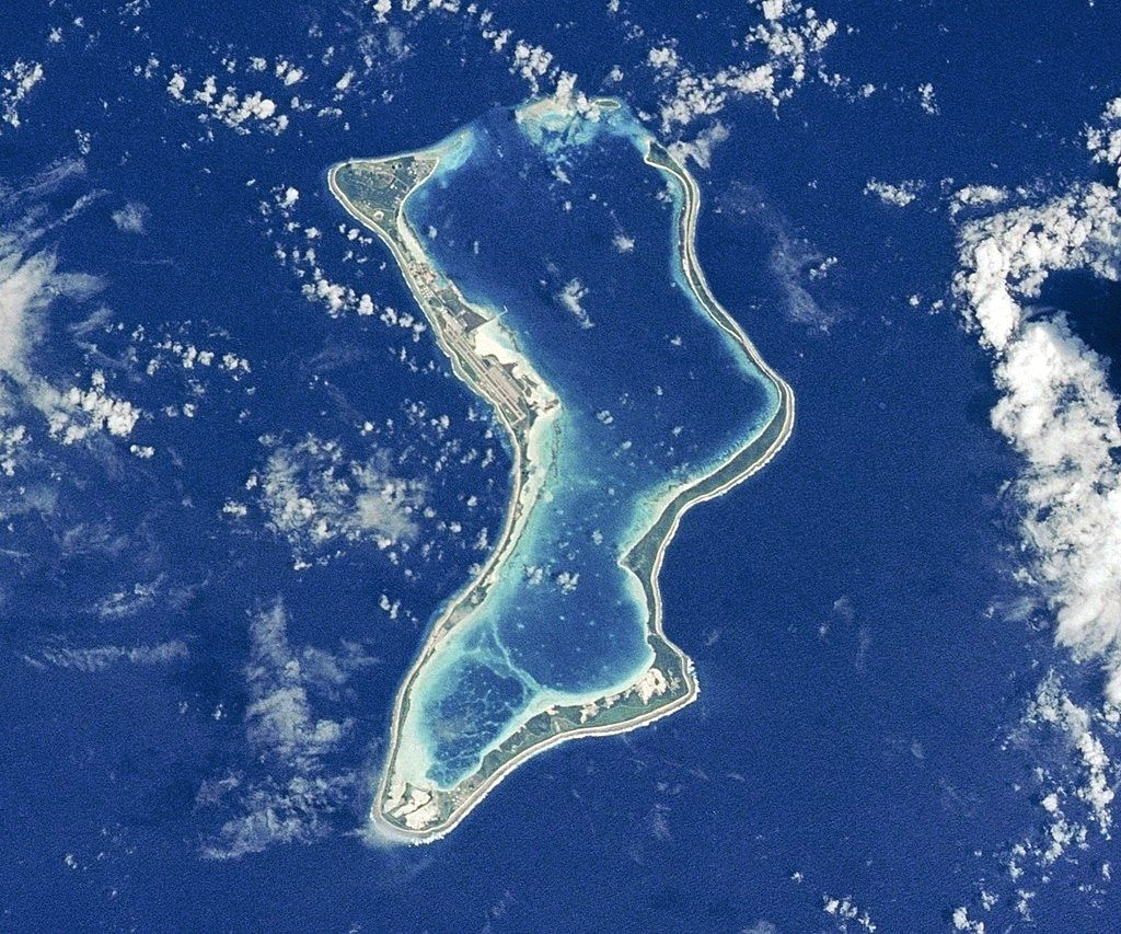Diego Garcia island, which hosts a United States military base in the Indian Ocean. (Photo: NASA/IANS)