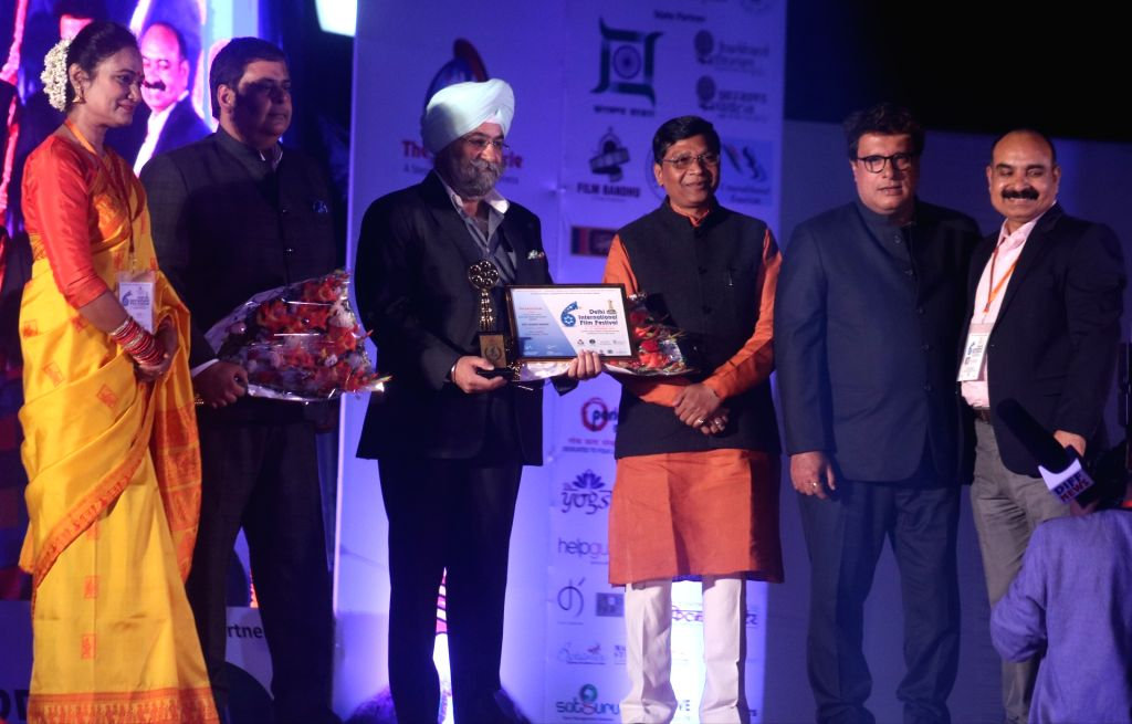 Dignitaries during the inauguration of Delhi International Film Festival in New Delhi on Dec 4, 2017.