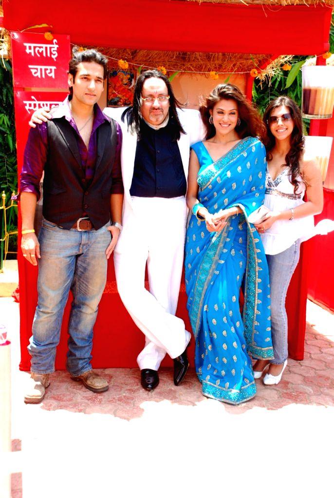 "Dinkar Rao helmed film ""Ek Cutting Chai"" was launched at Shubham Villa."