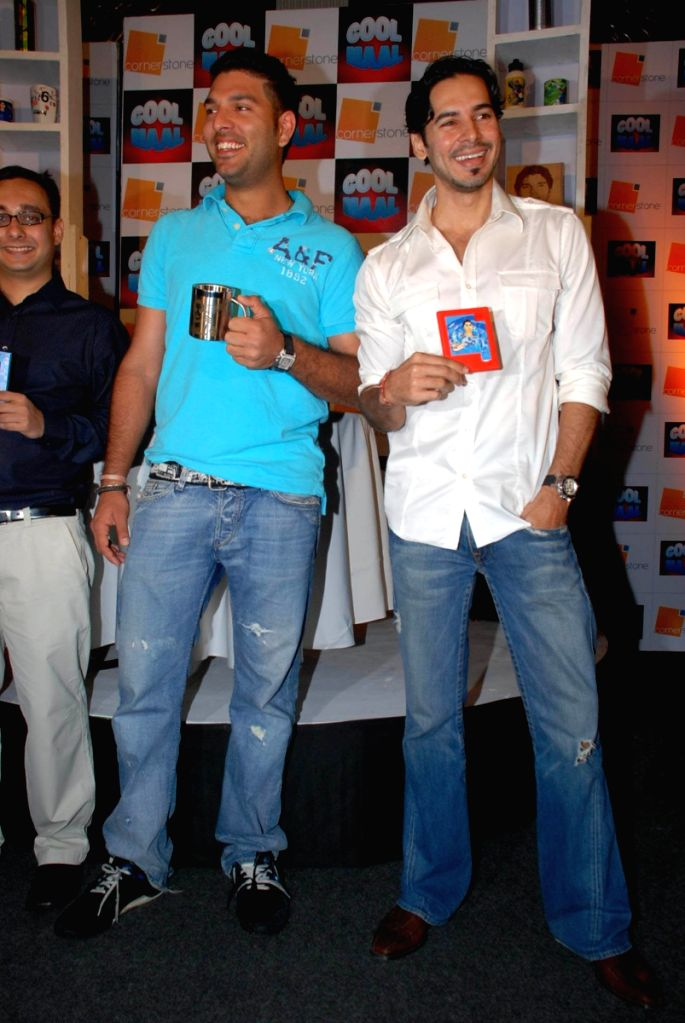 Dino Morea at Yuvraj Singh's merchandise launch in Mumbai. - Dino Morea