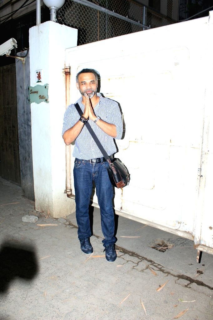 "Director Abhinay Deo at the special screening of his upcoming film ""Blackmail"" in Mumbai on April 3, 2018."