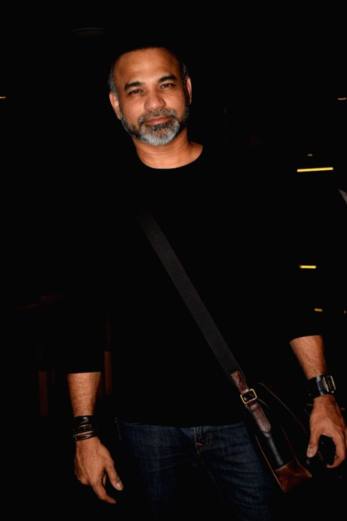 "Director Abhinay Deo at the special screening of his upcoming film ""Blackmail"" in Mumbai on April 4, 2018."