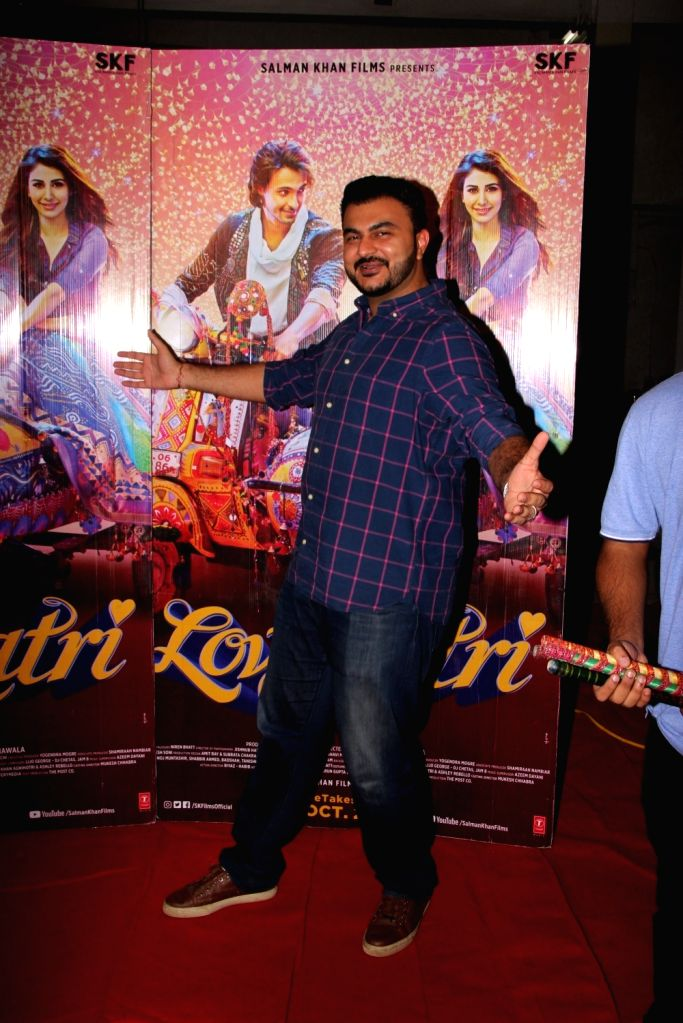 """Director Abhiraj Minawala during the promotions of his upcoming film """"Loveratri"""", in Mumbai on Sept 15, 2018."""