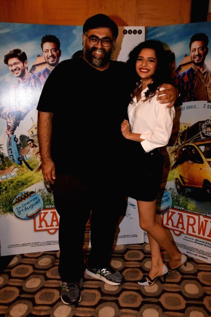 "Director Akarsh Khurana and actress Mithila Palkar during a media interaction of their upcoming film ""Karwaan"" in Mumbai on July 23, 2018. - Mithila Palkar"