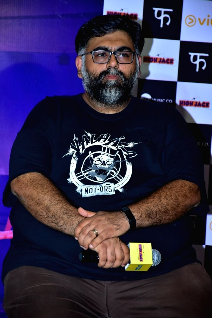 """Director Akarsh Khurana during the trailer launch of his upcoming film """"High Jack"""", in Mumbai on March 27, 2018."""