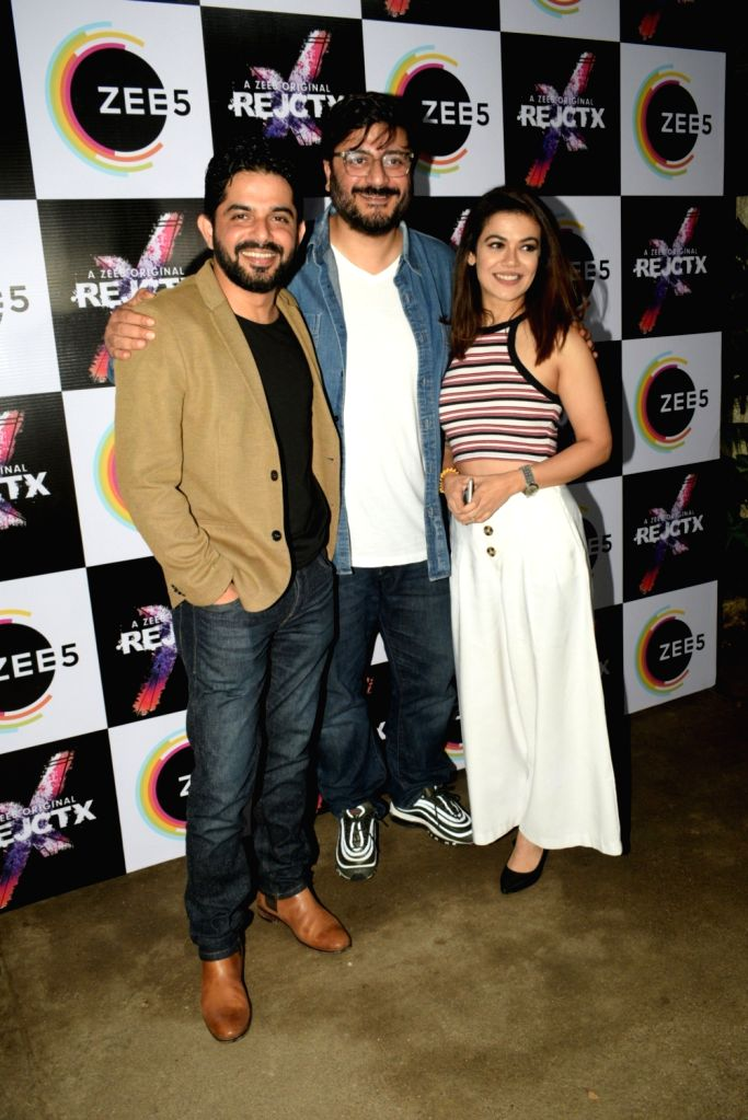 "Director and Producer Goldie Behl with actor Raj Singh Arora at the screening of his upcoming ZEE5 Original series ""RejctX"", in Mumbai on July 24, 2019. - Raj Singh Arora"