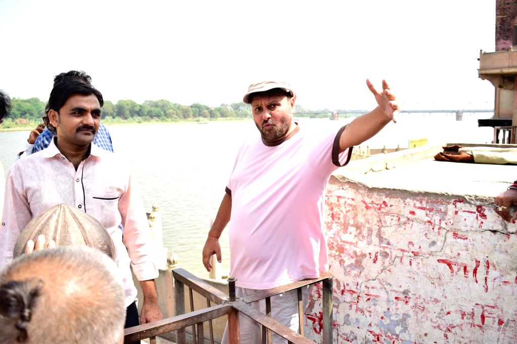 """Director Anil Mishra during the shooting of film """"Genius"""" in Mathura on Oct 5, 2017. - Mishra"""