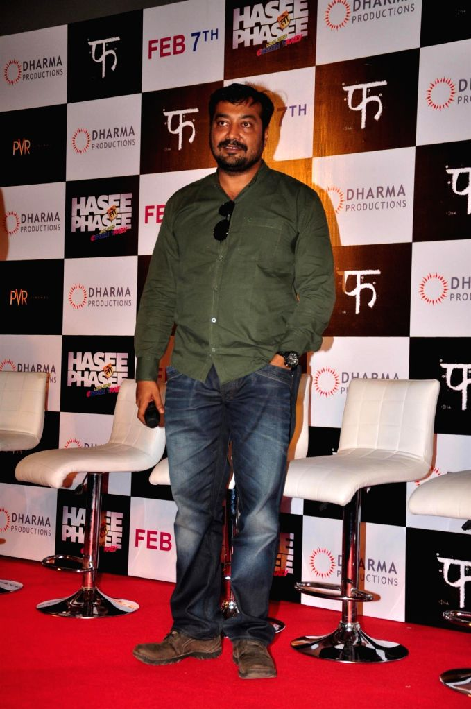 Director Anurag Kashyap at the first look of  the upcoming film Hasee Toh Phasee at PVR Cinemas in Mumbai on December 13, 2013. - Anurag Kashyap